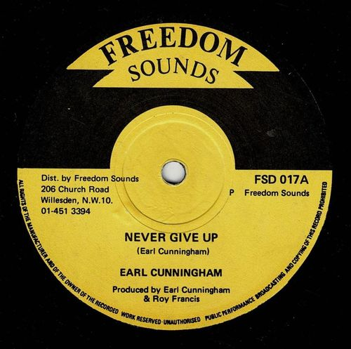 EARL CUNNINGHAM-never give up