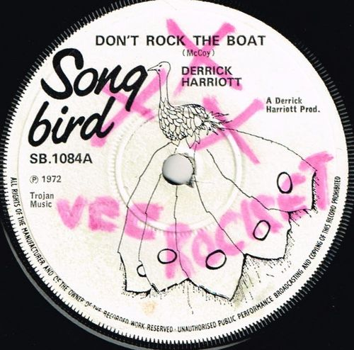 DERRICK HARRIOTT-don't rock the boat