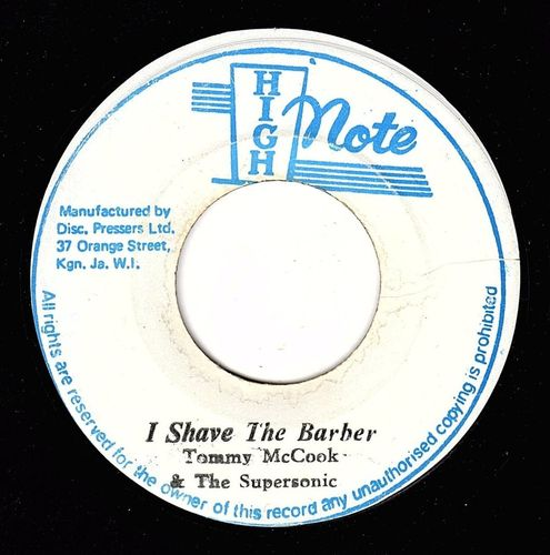TOMMY McCOOK-i shave the barber
