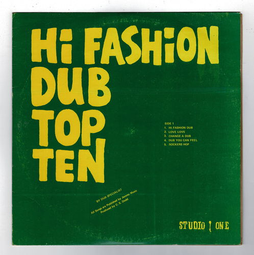 DUB SPECIALIST-hi fashion dub top ten