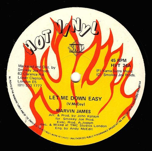 MARVIN JAMES-let me down easy