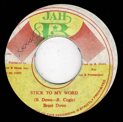 BRENT DOWE-stick to my word