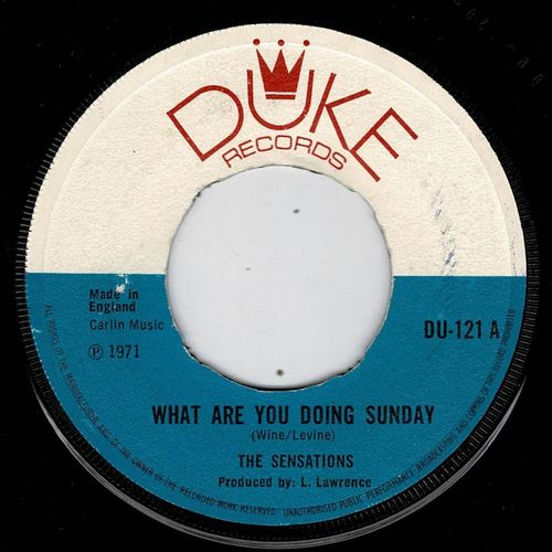 SENSATIONS-what are you doing sunday