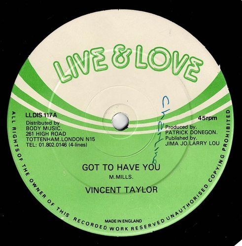 VINCENT TAYLOR-got to have you
