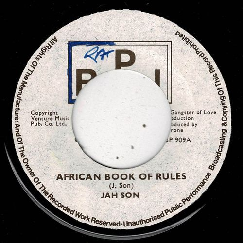 JAH SON-african book of rules