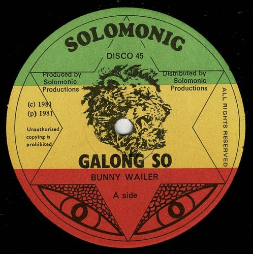 BUNNY WAILER-galong so