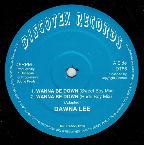DAWNA LEE-wanna be down