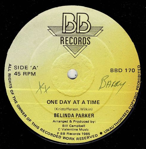 BELINDA PARKER-one day at a time