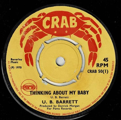 U B BARRETT-thinking about my baby