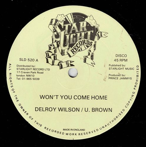DELROY WILSON & U BROWN-won't you come home