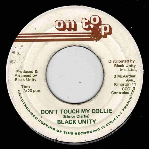 BLACK UNITY-don't touch my collie