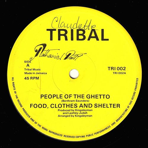 FOOD CLOTHES & SHELTER-people of the ghetto