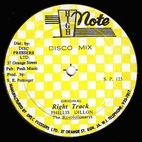 PHILLIS DILLON-right track