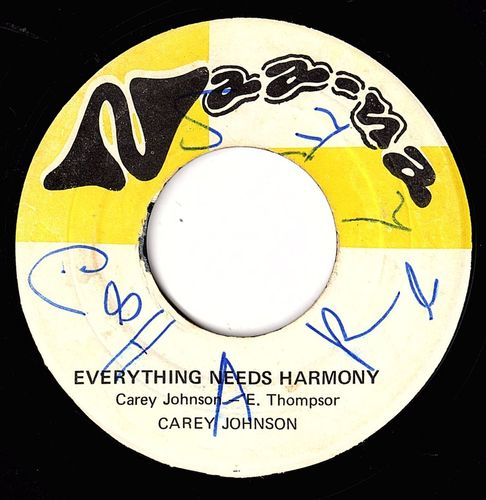 CAREY JOHNSON-everything needs harmony