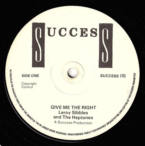 LEROY SIBBLES & HEPTONES-give me the right