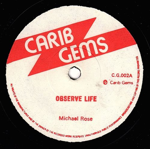 MICHAEL ROSE-observe life